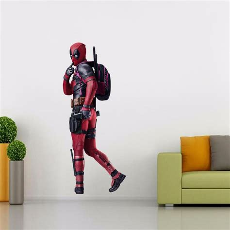 wall stickers home decor deadpool decal removable graphic wall sticker home decor