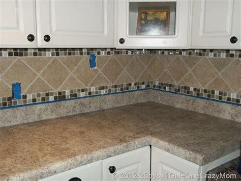 tile borders for kitchen backsplash simple kitchen area with brown ceramic glass border tile