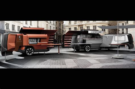 remorque cuisine peugeot food truck concept serves up style and cuisine