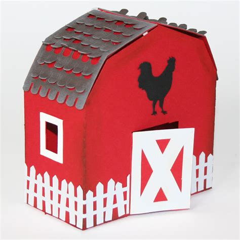 barn shaped box  animal notecards pazzles craft room