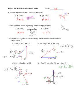 vectors worksheet 2 adding vectors graphical method