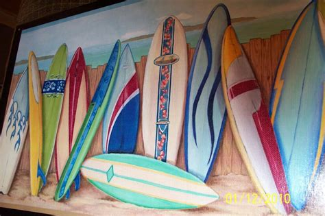 Surf Decor - surfboards wall decor plaque surfing style sign