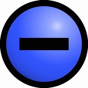 File Electric Charge Symbol Negative Svg