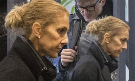 A Makeup Free Celine Dion Looks Sombre As She Exits Her