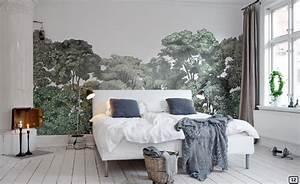 deco jungle papier peint tropical xxl bnbstaging le blog With couleur pour un salon 2 papiers peints pour une chambre scandinave blog au fil