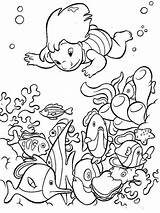Coloring Pages Water Sheet Sea Print Nature Disney Stitch Plant Et Fall sketch template