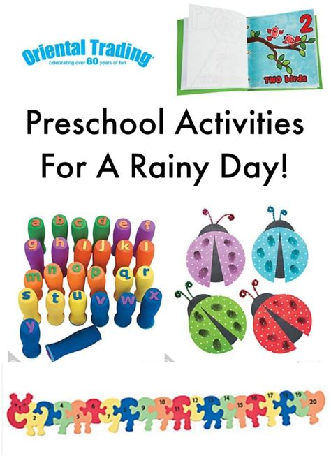 preschool activities for a rainy day cleverly simple 932 | Oriental Trading Preschool Activities