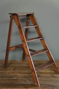 Sold : Vintage Wooden Step Ladder