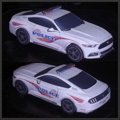 valdosta police  ford mustang paper car  vehicle