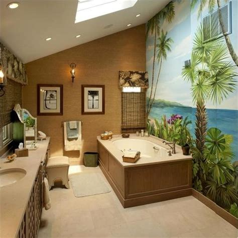 Themed Bathroom Wall Decor by 42 Amazing Tropical Bathroom D 233 Cor Ideas Digsdigs