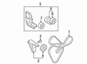Kia Forte Accessory Drive Belt Tensioner Pulley  Liter