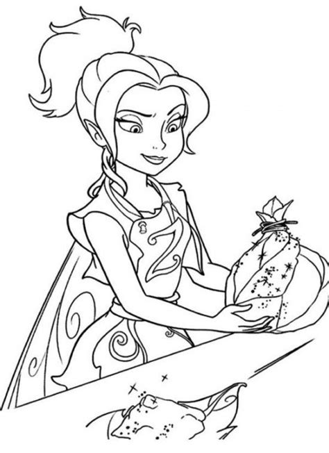 Printable Disney s The Tinkerbell Pirate Fairy Coloring