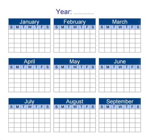 sample yearly calendar templates  google docs