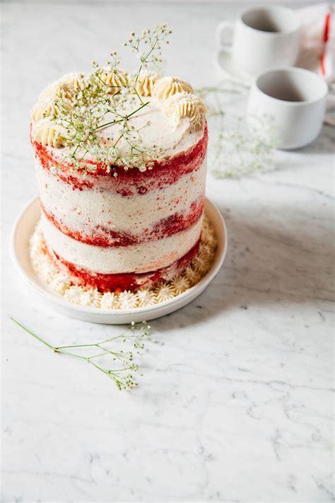 naked red velvet cake  creme fraiche frosting
