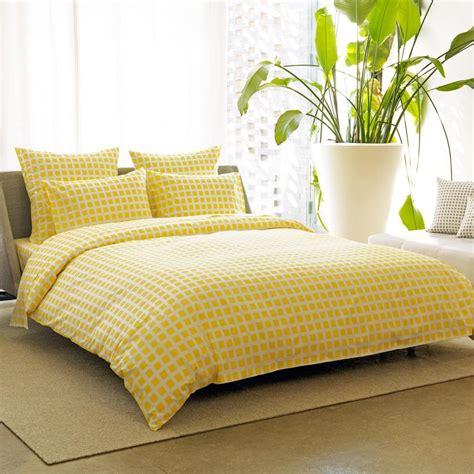Tiles Lemon Duvet Cover King