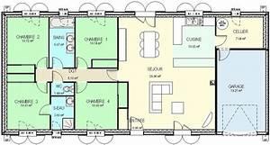 plan maison 4 chambres plain pied gratuit bricolage maison With plan de maison plain pied 4 chambres gratuit