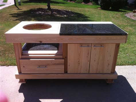 table with grill built in green egg built in grills big green egg table plans