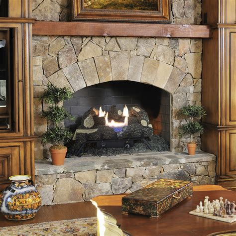 pleasant hearth  dual fuel wildwood vent  gas log