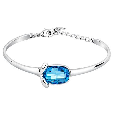 bracelet swarovski bleu bracelet bangle cristal de swarovski element bleu et
