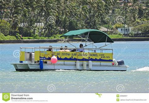Boating License Oahu by Diving Lessons Pontoon Boat Editorial Photography Image