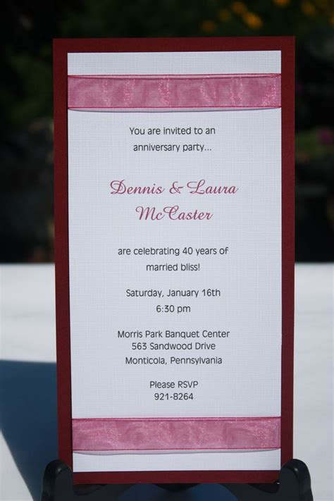 Anniversary Party Invitation Wording in 2020 Anniversary