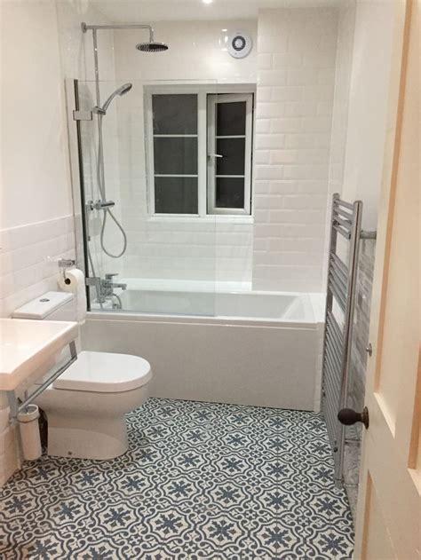 bathroom berkeley slate blue tiles  white