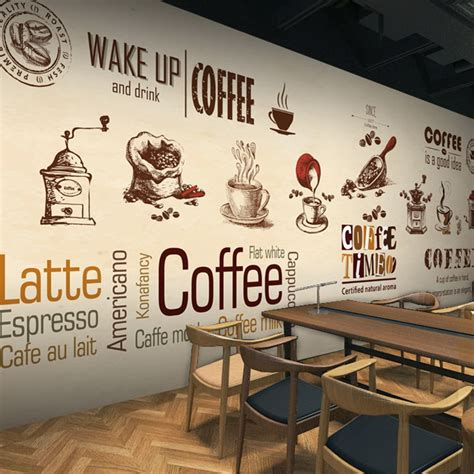 custom stereo  photo wallpaper coffee shop restaurant