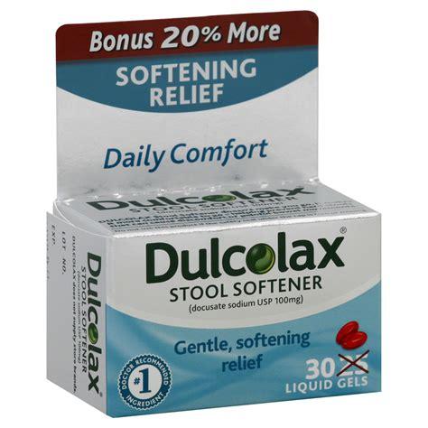 Is Bisacodyl A Stool Softener - dulcolax stool softener liquid gels 25 liquid gels