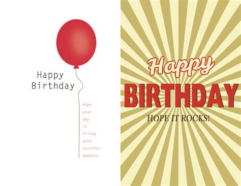 birthday card template   inspired life