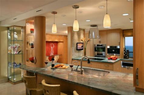 gorgeous modern kitchen with beautiful use of pendant