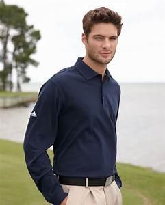 Adidas Golf Men 39 S Climalite Tour Piqué Long Sleeve Polo
