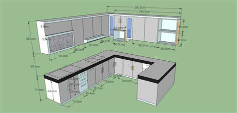 ukuran kitchen set minimalis rumah dapur