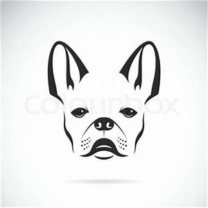 Vector sketch domestic dog French Bulldog breed | Vector ...