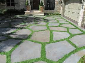 Lawn Patio by Grass Joints Can Be Easily Obtained With Any Shape Style