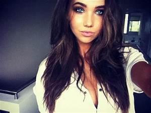 Tumblr Girls Brown Hair Blue Eyes - Popular Long Hairstyle ...