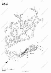 Suzuki Atv 2006 Oem Parts Diagram For Frame