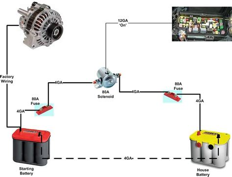 Dual Battery Isolator Wiring Diagram by Dual Battery Isolator Set Up Drawing Dual Battery Setup