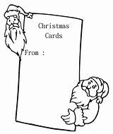 Christmas Cards Pages Coloring Card Printable Blank Santa Colouring Greeting Sheets Holiday Greetings Popular Birds Anycoloring sketch template