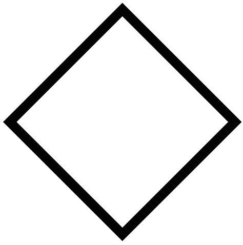 geometric shape rhombus square triangle diamond shape