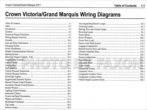 Mercury Grand Marquis Wiring Diagram Forums