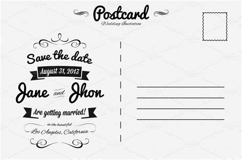 postcard invitation template wedding invitation postcard invitation templates on creative market