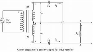 electronic circuits full wave rectifiers With full wave diode rectifier circuit diagram for centre tapped