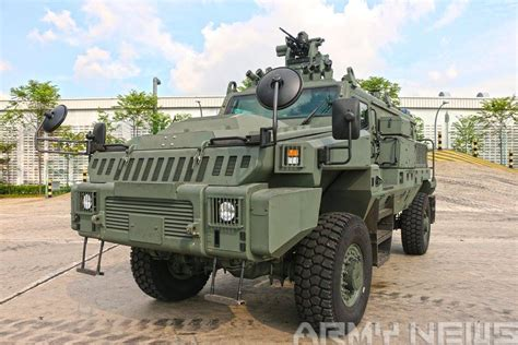 Singapore Army Unveils New Pcsv Armored Vehicle
