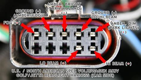 vwvortex mk4 headlight wiring diagram jetta tips