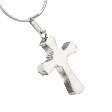 gothic cross cremation jewelry pendant  ashes