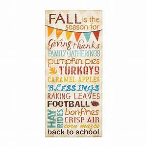 Fall is the Season Canvas Art Print Kirklands