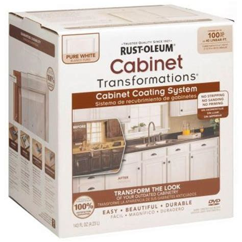 home depot cabinet paint rust oleum transformations 1 qt pure white cabinet small