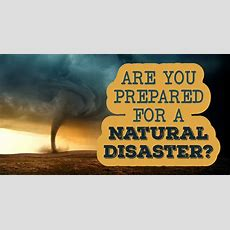 Are You Prepared For A Natural Disaster?  Quiz Quizonycom