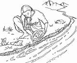 Rush Gold Panning Coloring Pages Mining Clipart Australian Line Drawing Google Clip Stockade Spot Eureka Sketches Cliparts sketch template
