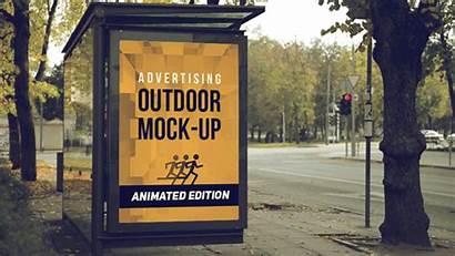 Outdoor Animated Mockup Mock Advertising Ad Mockups